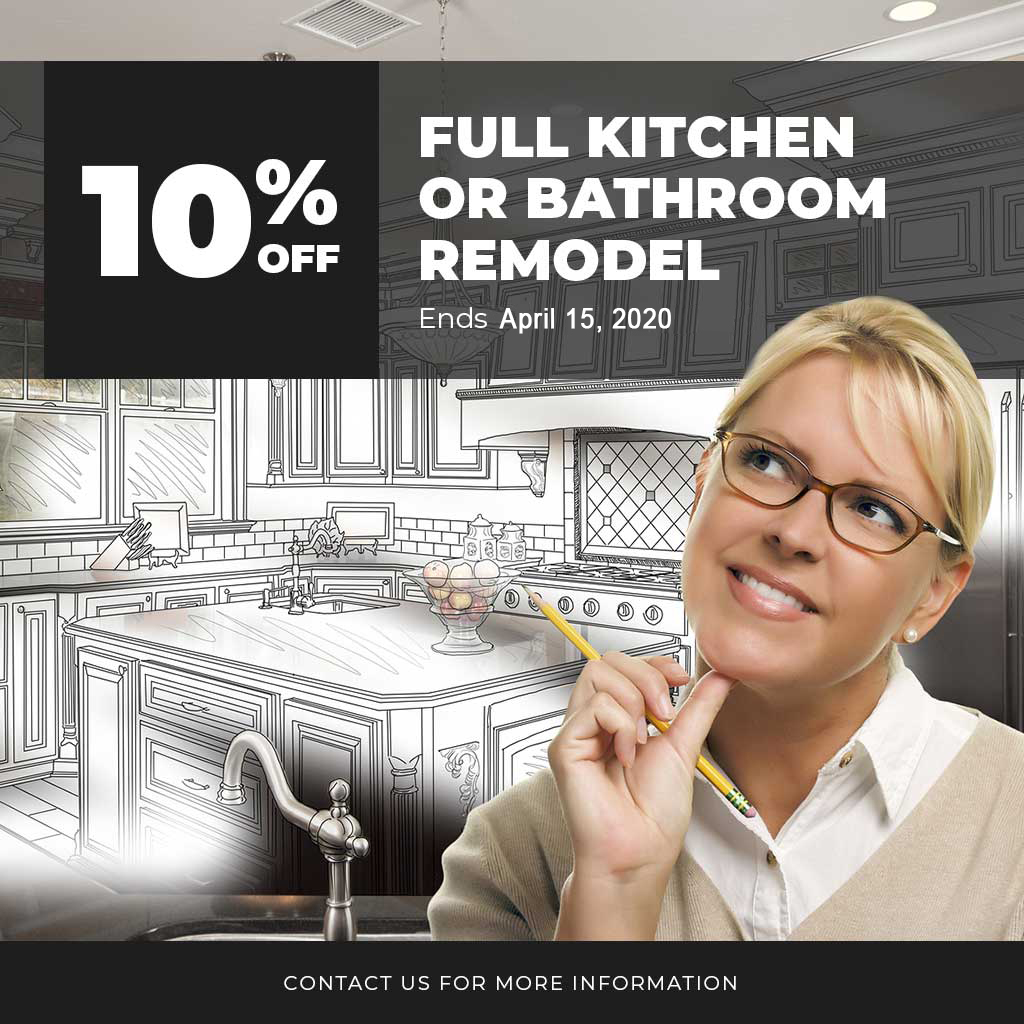 10% Off Full Kitchen or Bathroom Remodel